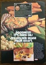 1979 Kraft Golden Image Imitation Corn Oil-Based Cheeses Print Ad - $10.89
