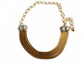 Siki De Somalie Women`s Teardrop Brass Beads Chain Gems Belt  - $1,120.79
