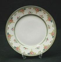 Chas Field Haviland Dinner Plate Green Criss-Cross Band Floral Urn Limog... - $19.79