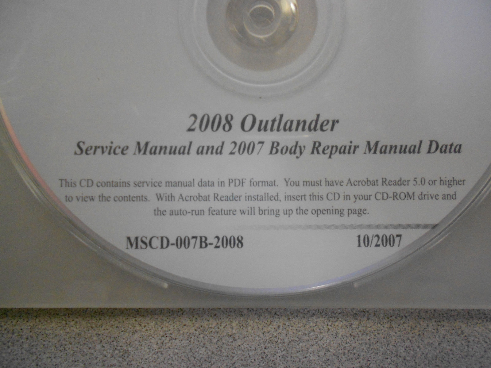 2008 2007 MITSUBISHI OUTLANDER Service Repair Manual CD BRAND NEW image 2