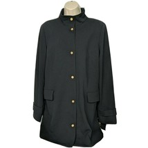 Dennis Basso Womens Luxe Crepe Snap-Front Jacket with Printed Lining Siz... - $99.00