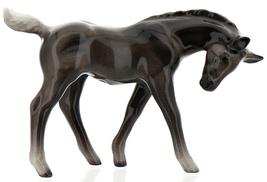 Hagen-Renaker Miniature Ceramic Horse Figurine Silver Black Morgan Colt image 1