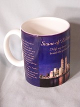 """Statue of Liberty (with Twin Towers in New York) coffee cup approx 3.75"""" tall - $5.96"""