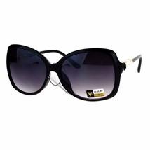 Womens Luxury Style Sunglasses Black Jewel & Pearl Design Temple UV 400 - $11.95