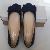 Jessica Simpson Mugara stone blue suede flats 9.5 New in Box - $37.40