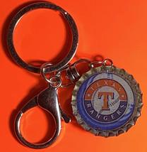 Texas Rangers Baseball Coke Sprite Diet pepsi & more Soda beer cap Keychain image 2