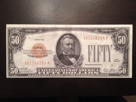 Reproduction Old United States $50 Bill Gold Certificate 1928 Ulysses Grant Copy - $2.96