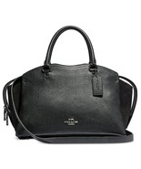 Coach Drew Mixed Leather Triple Compartment Satchel, Gunmetal/Black $395 - $155.02