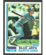 Toronto Blue Jays Garth Iorg 1982 Topps Baseball Card # 518 nr mt - $0.50