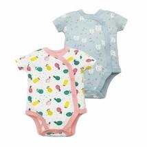 Newborn Baby Bodysuits Short Sleeve printed Pattern Cotton Fabric Button... - $9.48