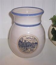"Deneen Pottery 1988 Special Edition Squatty Pot/ Vase""Sunrise Farm"" Sc - $24.74"