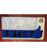 Lot of 2 Starbucks 2017 YOU'RE THE BEST Gift Cards New with Tags - $8.86