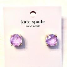 Kate Spade New York Enamel Backed Gumdrop Stud Earrings Lilac Nwt - $28.00