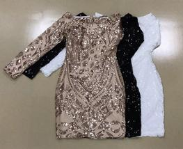 Brand Designer Designer Off Shoulder Matching Beaded Sequin Party Dress in 3 Col image 5