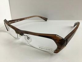 New ALAIN MIKLI A 0474 A0474 32 52mm Havana Semi-Rimless Eyeglasses Frame - $329.99