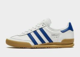 Adidas Originaux Jeans Hommes Baskets Blanc/Bleu Cuir Chaussures Toutes ... - $155.12