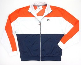 NEW FILA ORANGE/WHITE FLEECE LINED STERLING TRACK JACKET SZ M**IMPERFECT #2 - $19.80