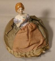 Porcelain Half Doll Pincushion with Legs - $20.00