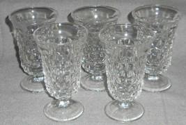 Set (5) Fostoria American Pattern 6 Oz Footed Juice Glasses - $49.49