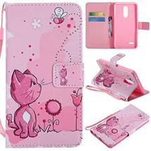 XYX Wallet Phone Case for LG K10 2018,[Cats and Bees][Wrist Strap][Kicks... - $4.94