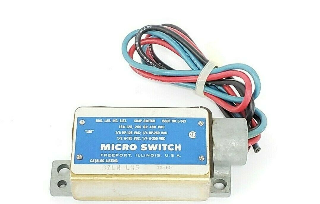 HONEYWELL MICRO SWITCH BZLN-LH5 SNAP SWITCH ISSUE NO. E-343