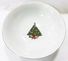 """Porcelana Cuenco Redondo 9"""" With Árbol de Navidad Imagen Blanco - £17.83 GBP"""