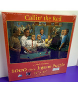 1000 Pc Puzzle Callin the Red Andy Thomas SunsOut Democrats Obama Clinto... - $29.69
