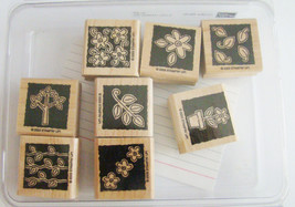 NEW ~ Stampin Up ~ Garden Blocks ~ Set of 8 Stamps ~ Retired  - $8.68