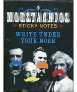 MOUSTACHIOS Sticky Notes Mustache Shaped Write Under Your Nose - $2.66