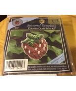 Strawberry Seasonal Sampling Mill Hill Counted Glass Bead Ornament Kit - $5.89