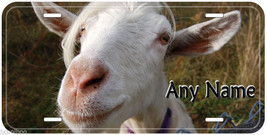 Goat White Aluminum Any Name Novelty Car Tag License Plate P01 - $14.80