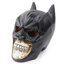 Black Bat Mask Skull Bat Man Head Statue Sculpture Resin Home Halloween ... - $29.69