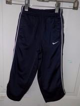 Nike Navy Blue/White Athletic Pants Size 3T Boy's EUC - $15.77