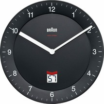 Braun BNC 006 Quartz Wall Clock Circle Black - Clock Wall (Aa, LR6, 1,5 V - $169.65