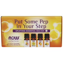 NOW Solutions Put Some Pep in Your Step Uplifting Essential Oil Kit - 4 ... - $17.55