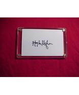 HUGH HEFNER  Signed 3x5 Signature Cut w/Certificate of Authenticity - $30.00