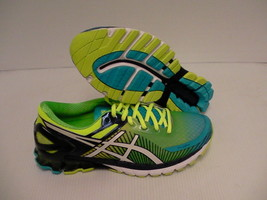 Asics gel kinei 6 running shoes flash yellow white flash blue size 8.5 men - $118.75