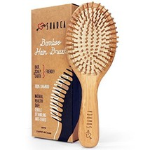 SHARCA Premium Wooden Bamboo Hair Brush with Ball Tipped Bristles from N... - $23.21