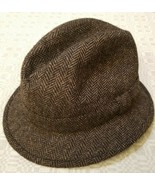 VTG Lock & Co Hatters for Brooks Brothers Tweed Hat Fedora Size 7 1/4 59... - $87.07