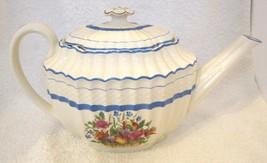 Old Mark Copeland Spode Teapot Tea Pot Flower and Fruit Basket Blue Banded SHP - $94.05