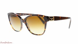 Dolce Gabbana Women Butterfly Sunglasses DG4195 502T5 Havana/Brown Gradi... - $193.03