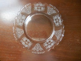 """Tiffin """"Cherokee Rose"""" Luncheon Plate with beaded rim ca. 1940s Elegant ... - $9.90"""