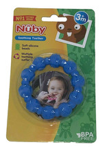 Nuby Soothing Teether Soft Silicone Beads 3M+ BLUE - $8.31