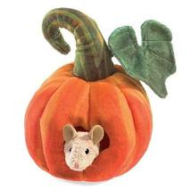 Folkmanis Mouse in Pumpkin Finger Puppet - $24.75
