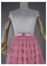Blush Tiered Midi Tulle Skirt Blush Bridesmaid Skirt Outfits Tulle Puffy Skirts image 7