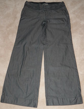 Banana Republic Martin Fit Women's Dress Pants Size 6 Trouser Gray Pinst... - $18.76
