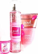 Bath and Body Works Pink Cashmere Foaming Sugar Scrub, Body Mist & PocketBac - $27.18