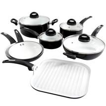 Oster Herstal 11 Piece Aluminum Cookware Set In Black - $130.95