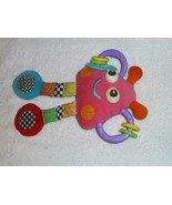 VINTAGE KIDS II 2000 STUFFED PLUSH BABY RATTLE GRABBER TOY MONSTER ALIEN... - $22.76