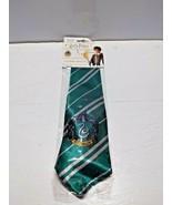 Harry Potter Slytherin House  Costume tie Necktie  Tie with crest Childs - $7.83